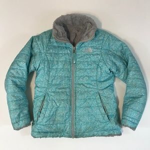 The North Face Girls Reversible Puffer Jacket SZ M